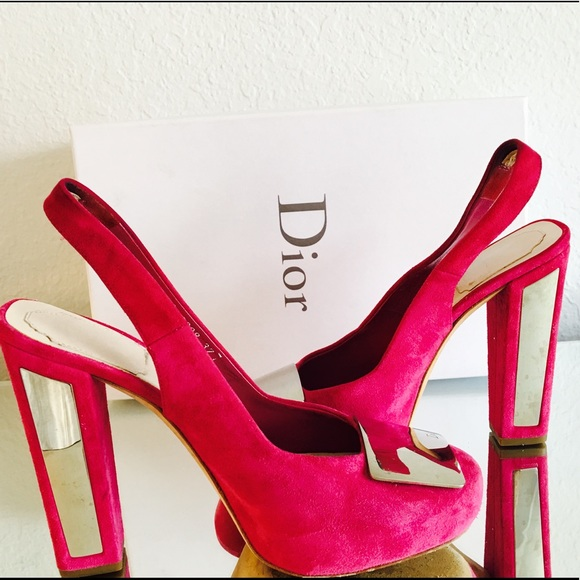 Christian Dior Suede Square heels